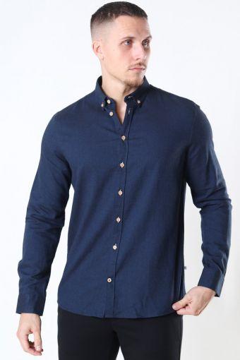 Johan Diego Cotton Shirt Navy