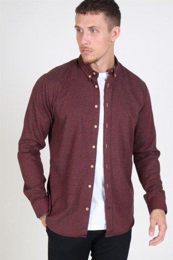 Johan Diego Shirt Bordeaux Mel