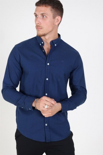Johan Oxford Washed Shirt Blue