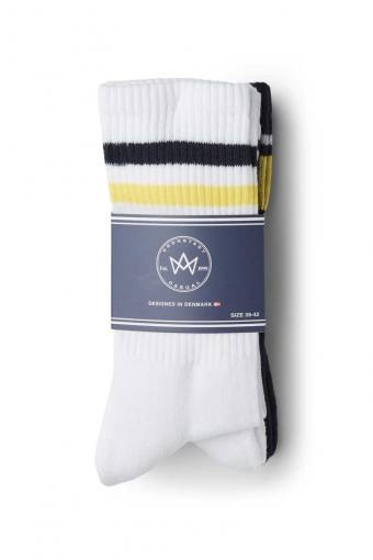 Nad 4-pack socks White/Navy/Yellow