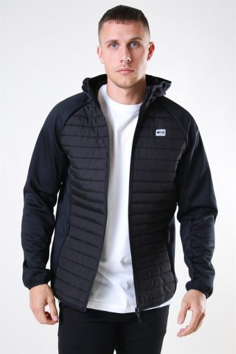 Jack & Jones Multi Quilted Jakke Black