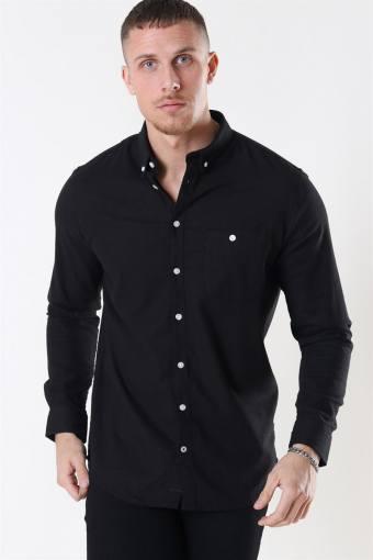 Johan Linen Shirt Black
