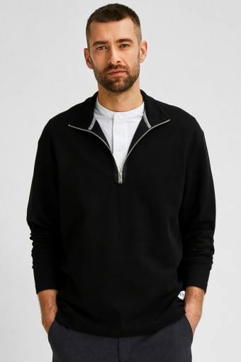 SLHRELAXDREW LS HIGH NECK SWEAT G Black