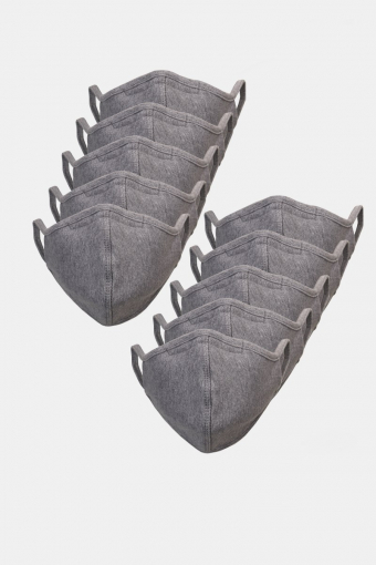 10-Pack Mundbind Oxford Grey