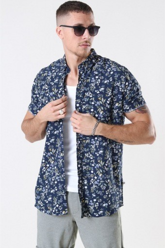 Johan Exotic S/S Shirt Navy 6