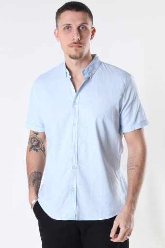 Cotton / Linnen Shirt S/S Sky Blue