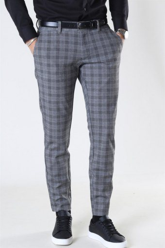 Mark Tap Check Pants GW 8098 Medium Grey Melange