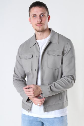 JPRBLADEXTER SWEAT TRUCKER JACKET Elephant Skin SLIM FIT
