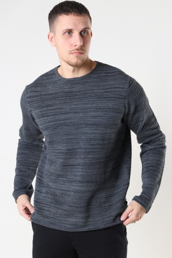 Peter Knit Dark Grey/Black