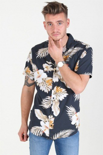 JPRHAWAII Resort Shirt S/S AOP Black