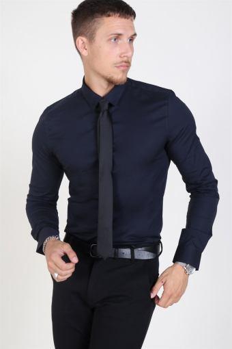 Alfredo LS Shirt Dark Navy