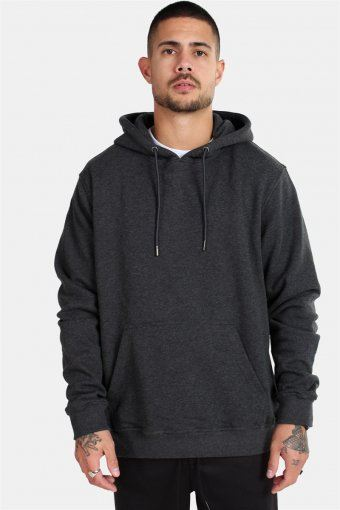 TB2392 Basic Terry Hoodie Charcoal