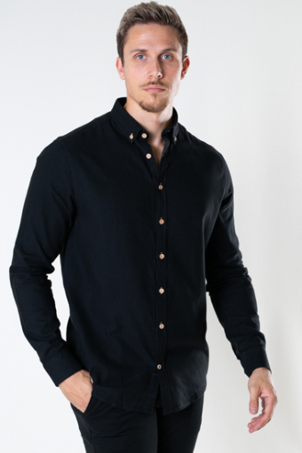 Johan Diego Cotton Shirt Black