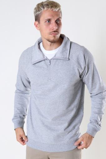 Basic Half-Zip Highneck 067 Light Grey melange