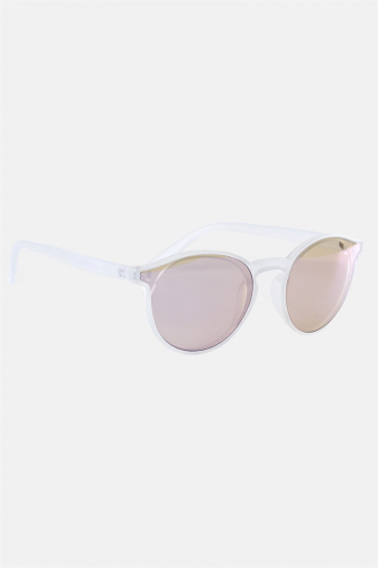 Fashion 1384 Sunglasses Matt Transparent Clear Lens w/Blue Mirror