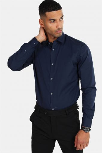 Non Iron Shirt L/S Navy Blazer