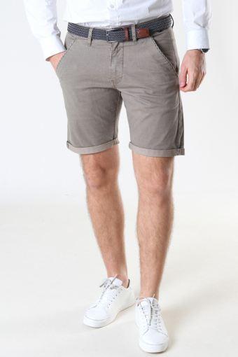 Louis Greige Shorts + belt