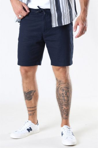 Clean Cut Barcelona Cotton/Linnen Shorts Navy