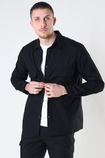 Ripstop Stretch Overshirt Black
