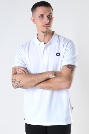 Albert Recycled cotton polo White