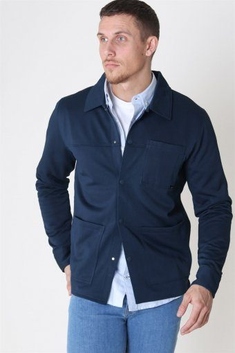 Jack & Jones Cohen Sweatshirts Trucker Jacket Blueberry