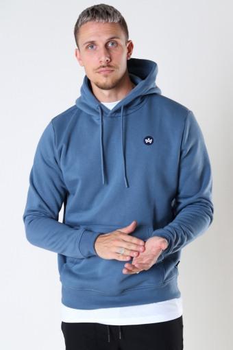 Lars Organic/Recycled hood sweat Sea Blue