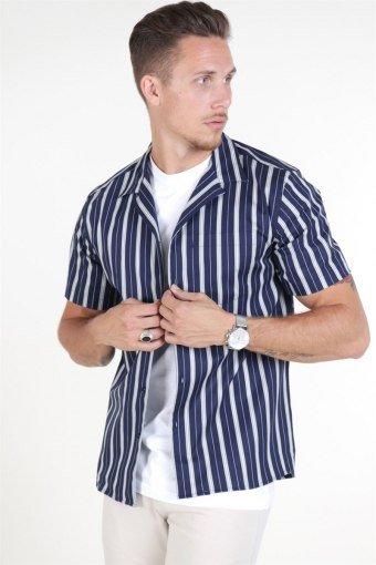 Les Duex Manny Shirt Dark Navy
