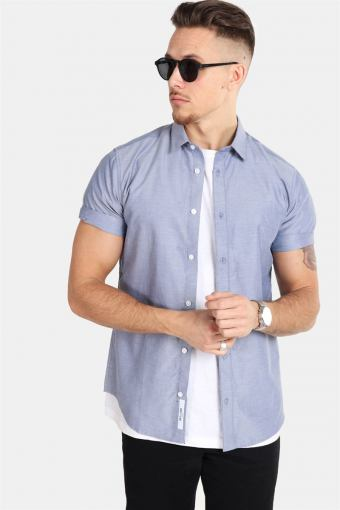 ravis SS Solid Shirt Majolica Blue