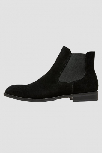 Louis Suede Chelsea Boot Black