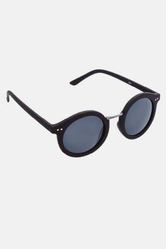 Fashion 1517 Rund Sunglasses Black Rubber/Gun Dark Grey Glass