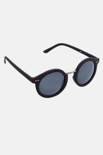 Fashion 1517 Rund Sunglasses Black Rubber/Gun Dark Grey Glass