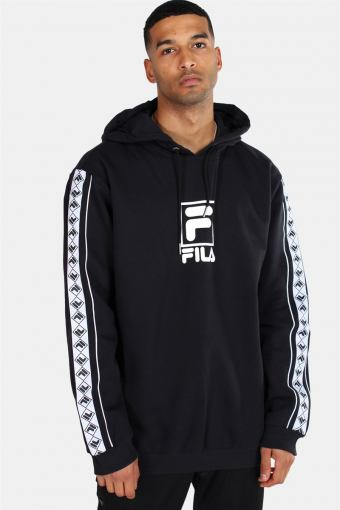 Men Rangle Hooded Sweat Black