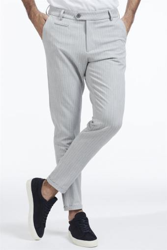 Como Pinstripe Suit Pants Grey melange/White