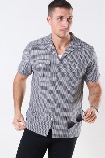Chan Check Shirt Black-White