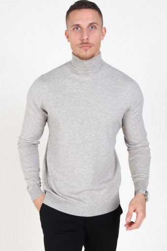 Mikkel 12 Rullekrave Knit Light Grey Melange