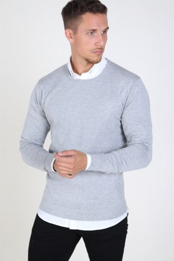 Tailored & Originals Mont Knit Light Grey Melange