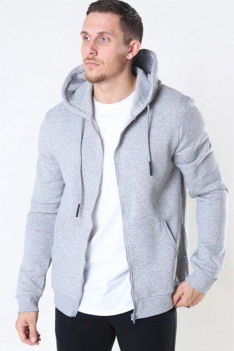Ceres Life Zip Hoodie Sweat Light Grey Melange