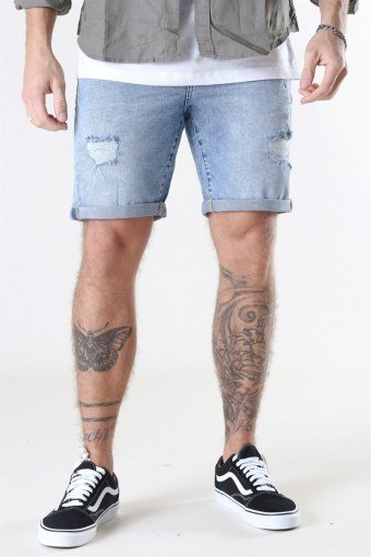 LT Ryder Destroy Shorts Blue Denim