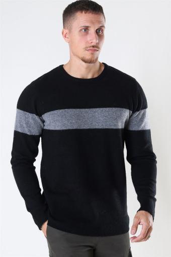 Clean Cut Toby Stretch Stripe Black/Grey Mel/Black