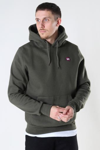 Lars Recycled cotton hood Khaki Green