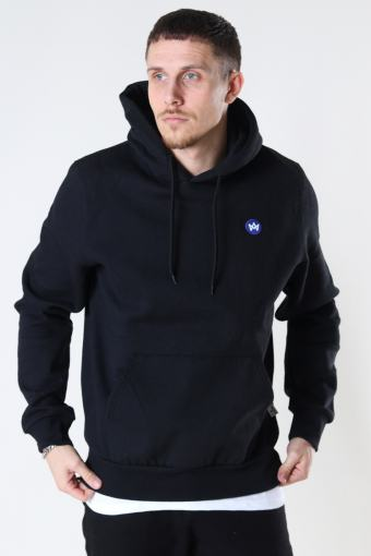 Lars Recycled cotton hood Black