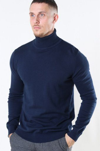 Rollneck Strik Dark Navy