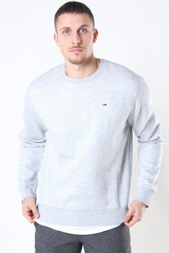 Tommy Jeans Regular Fleece Crewneck Light Grey
