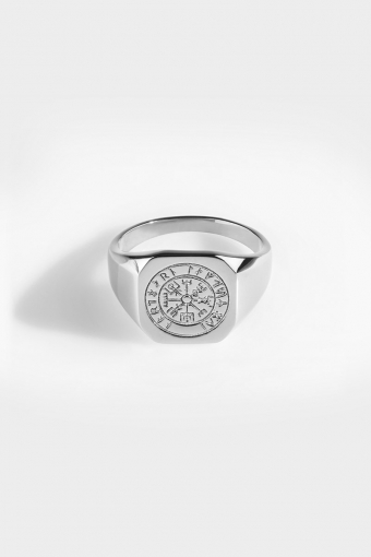 Vegvisir Signature Ring Silver