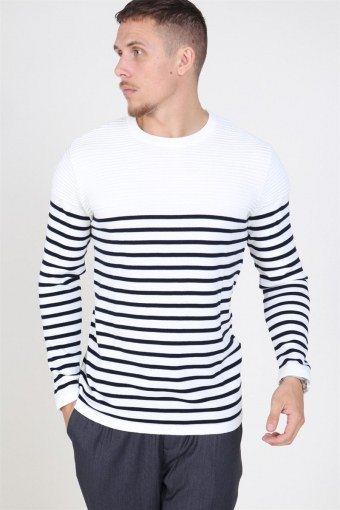 Link Stripe Knit Off White/navy