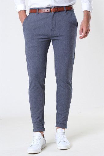Clean Cut Prato Jersey Pants Denim Melange