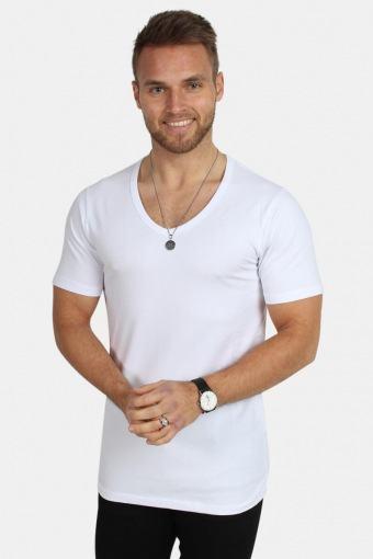 Basic V-Neck T-shirt S/S Opt White