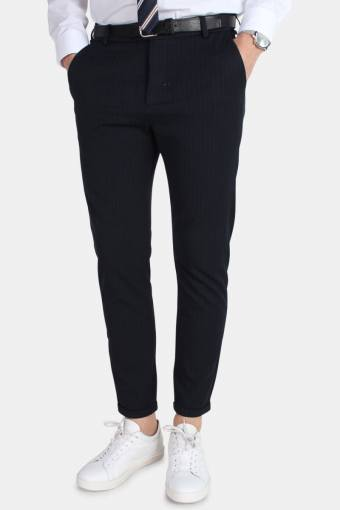 Como Pinstripe Suit Pants Navy/Light Brown