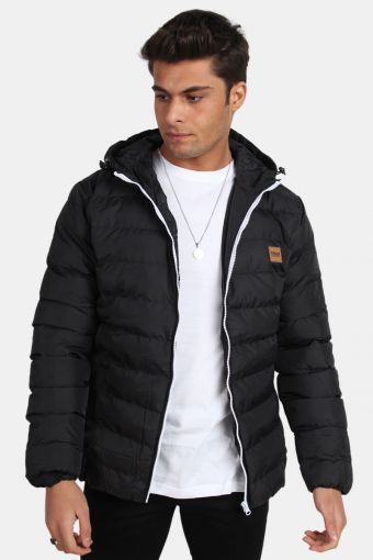 TB863 Basic Bubble Jacket Black/White/Black