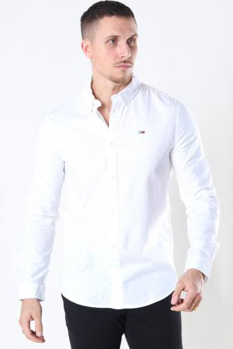 Tommy Jeans Slim Stretch Oxford Paita White